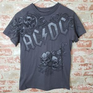 AC/DC Tee on Liquid Blue in Adult Small